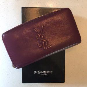 Yves Saint Laurent belle du juor leather wallet